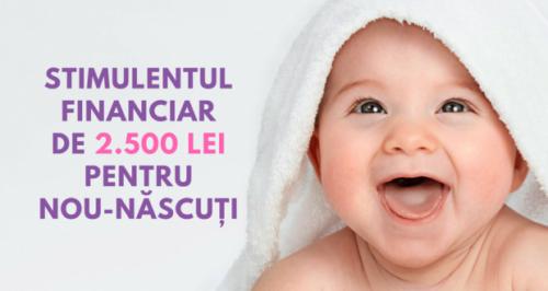 afla si tu mai multe informatii despre acest stimulent financiar pentru nou-nascut in valoare de 2500 de lei