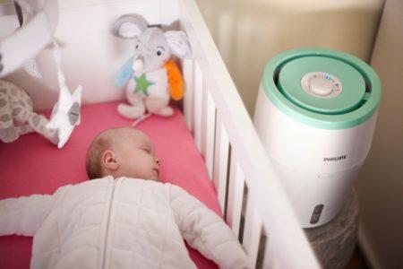 un umidificator ieftin pentru camera lui bebe, dar de foarte buna calitate