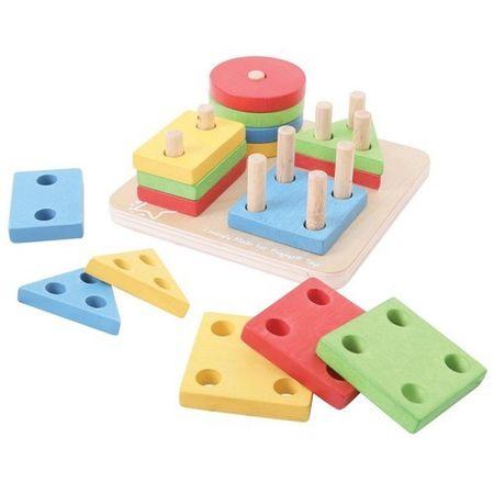 Jucarii educative pentru copii – Joc Bigjigs De Sortare – 4 Forme Geometrice la pret bun