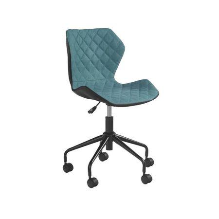 Scaunul de birou pentru copii HM Matrix Drimus, negru/turcoaz ieftin