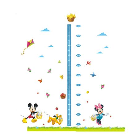 Sticker perete Grow up Mickey & Minnie 120 x 108 cm – Sticky Art usor de aplicat