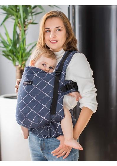 Marsupiu ergonomic pentru bebe Isara Toddler Full Wrap Conversion Diamonds Blue Ink la pret bun