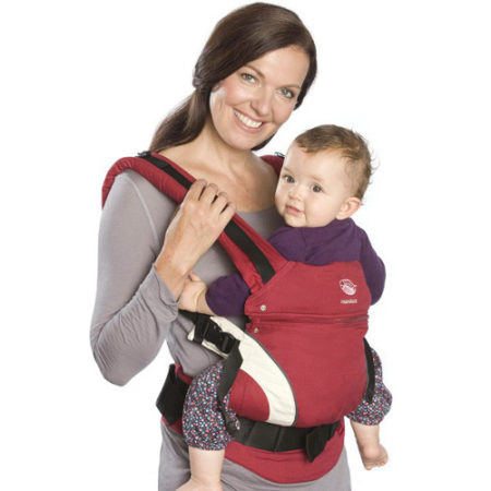 Marsupiu ergonomic pentru bebe Manduca Organic Red