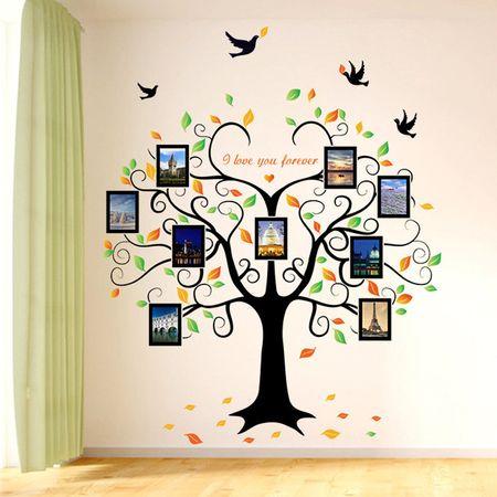 Stickere pentru copii Eosette – Copacul iubirii cu rame foto ce inveseleste camera