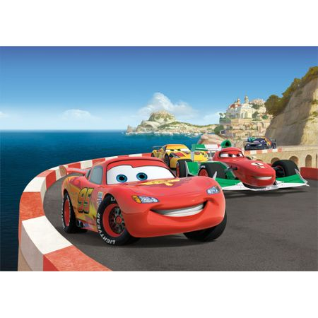 Tapet pentru copii de tip fototapet AG Design, Cars 2 Race FTDS1924, 255 x 180 cm de calitate