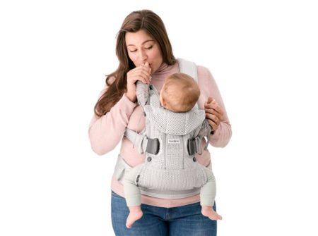 Marsupiu bebe anatomic BabyBorn One Air Greige 3D Mesh la pret excelent