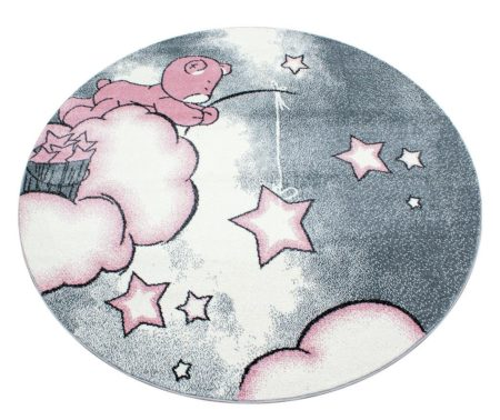 Covor pentru copii Teddy bear Round Pink 160 cm la reducere de pret!