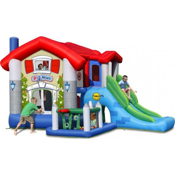 Surprinde-ti micutii cu un spatiu gonflabil Big House de la Happy Hop