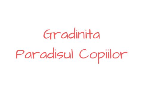 Gradinita Paradisul Copiilor logo