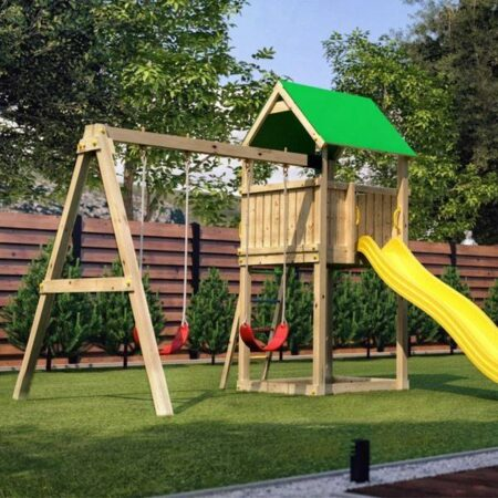 Integreaza in gradina ta un spatiu de joaca pentru copii.