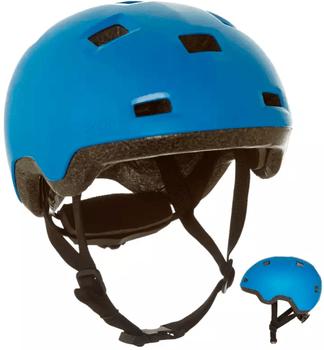 Casca B100 Oxelo este buna pentru siguranta copiilor cand se dau pe role, skateboard sau trotinete freestyle!